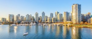 Downtown skyline view of Vancouver, Canada